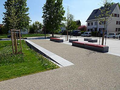 Übergang Platz- Park